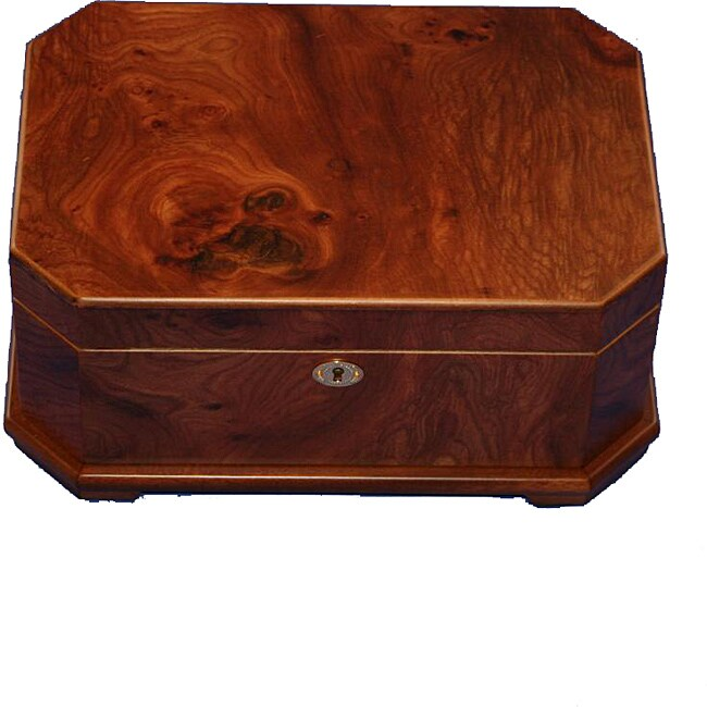 Elm Burl Wood Jewelry Collection Box