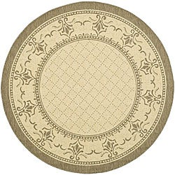 Safavieh Indoor/ Outdoor Royal Natural/ Brown Rug (5'3 Round)