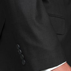 Men's Solid Charcoal Grey Three-button Suit