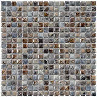 SomerTile 12x12-in Samoan 9/16-in Noce Porcelain Mosaic Tile (Pack of 10)
