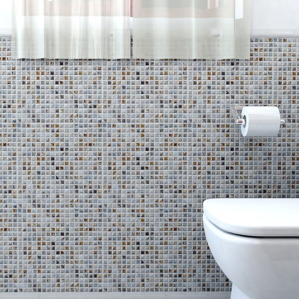 SomerTile 12x12-in Samoan 9/16-in Noce Porcelain Mosaic Tile (Pack of 10)