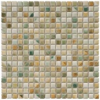 SomerTile 12x12-in Samoan 9/16-in Springfield Porcelain Mosaic Tile (Pack of 10)