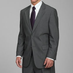 Carlo Lusso Men's 2-button Solid Medium Grey Suit