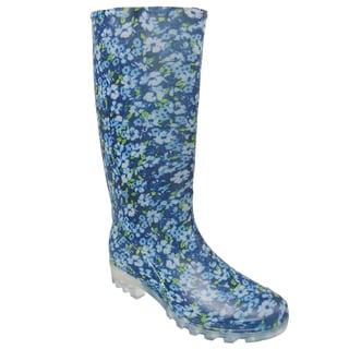 Adi Designs Women's Floral Print Rain Boots