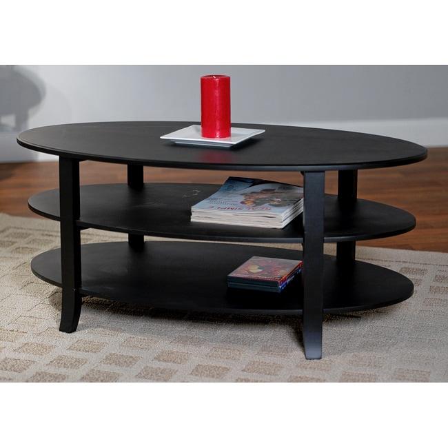 Simple living london 3 tier coffee table overstock for Coffee tables overstock