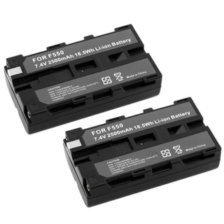Eforcity Sony NP-F550 / NP-F330 / NP-F750 Li-Ion Battery 2 pack