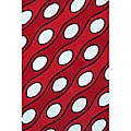 Hand-tufted Red Wool Curve Rug (5' x 8')