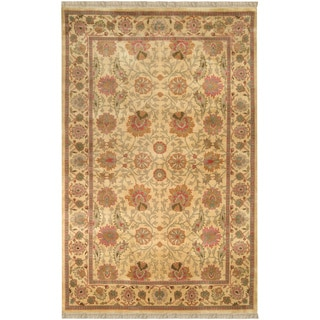 Set of 2 Hand-knotted Gold Wool Legacy Rugs (2' x 3')