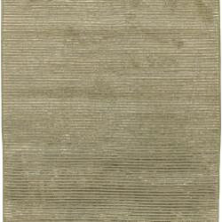 Hand-knotted Solid Beige Causal Karur Wool Rug (9' x 13')