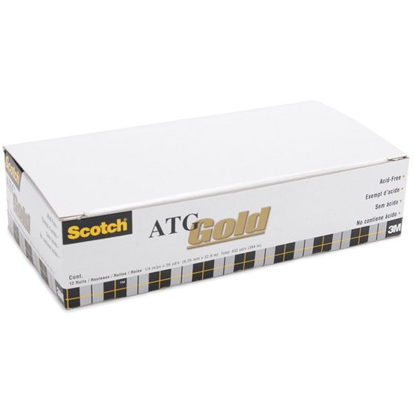 Scotch ATG 36-yard Gold Adhesive Transfer Tape Rolls (Pack of 12)