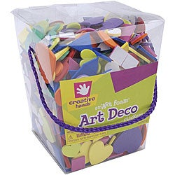 Fibre Craft Creative Hands 'Art Deco' 5-oz Foam Sticker Bucket