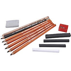 General Pencil 12-piece Original Charcoal Drawing Kit