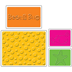 Sizzix Summer-themed Textured Impressions Embossing Folders