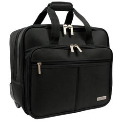 Geoffrey Beene Black Rolling Laptop Case