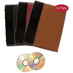 Bellagio Italia Book-style CD/ DVD Storage Binders (Pack of 12)