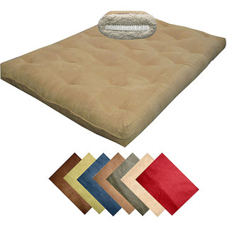 8-inch Loft Queen-size Cotton/ Foam Microfiber Suede Premiere Futon Mattress