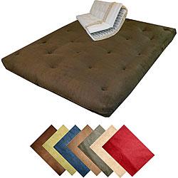 10-inch Loft Full-size Inner Spring Microfiber Soft Suede Splendor Futon Mattress