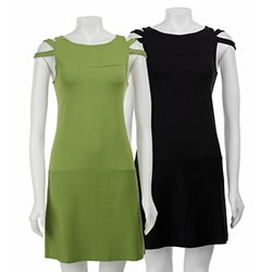 AtoZ Women's Cut-out Sleeve Dress