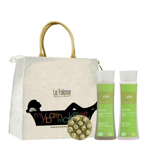 La Falaise Organic Green Tea Bath and Body Gift Set
