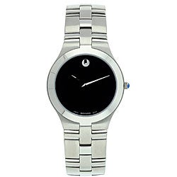 Movado Men's Juro Black Dial Stainless Steel Watch
