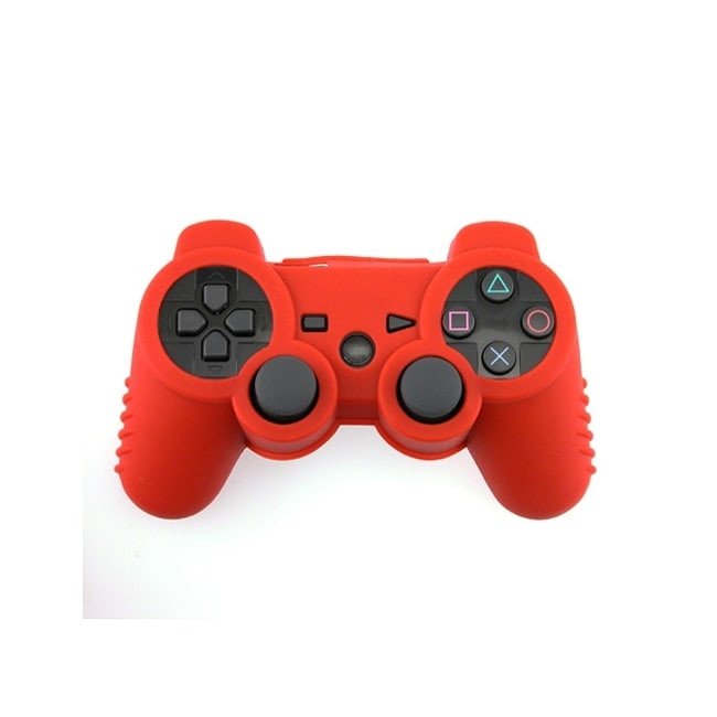 Eforcity Silicone Skin Case for Sony PS3 Controller, Red
