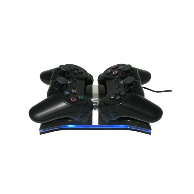 Insten Dual Charging Station for Sony PS3 Controller, Black