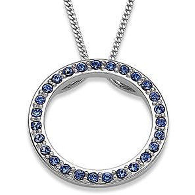 Sterling Silver Austrian Crystal Birthstone Circle Necklace
