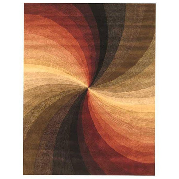 Hand-tufted Swirl Wool Rug (4' x 6')