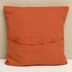 Tangerine Cotton 'Amelia Birds' Decorative Pillow Cover (India)