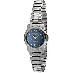 Timetech Women's Blue Dial Stainless Steel Expansion Watch