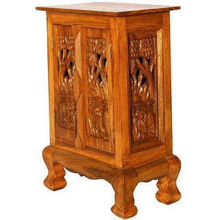 Handmade Wood Thai Elephant Cabinet (Thailand)