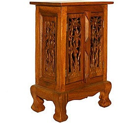 Handmade Wood 'Coconut Palm' Nightstand (Thailand)