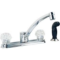 Moen Chrome 2-handle Kitchen Faucet with Spray