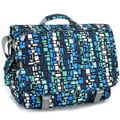 J World 'Thomas' Blue Squares Laptop Messenger Bag