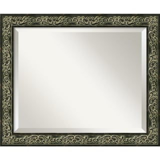 Green Provencal Scroll 23 x 19 Medium Wall Mirror