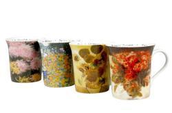 Konitz 'Les Fleurs Chez' 12-ounce Assorted Design Mugs (Set of 4)