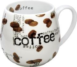 Konitz 'Coffee Collage Snuggle' 14-oz White Mugs (Set of 2)