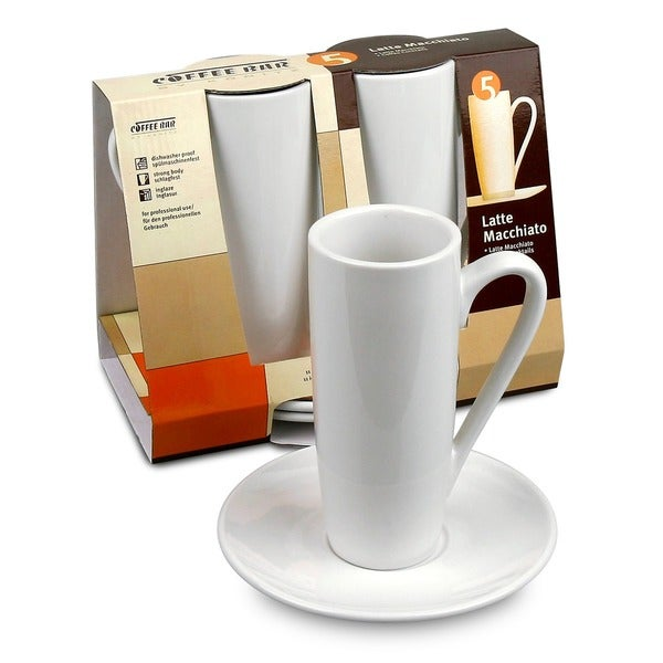 Konitz Coffee Bar 8-oz Latte Macchiato Cups and Saucers (Set of 2) 6034352