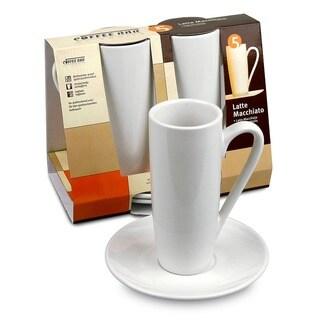 Konitz Coffee Bar 8-oz Latte Macchiato Cups and Saucers (Set of 2)
