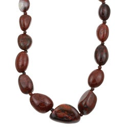 Kabella Red Jasper Nugget Necklace