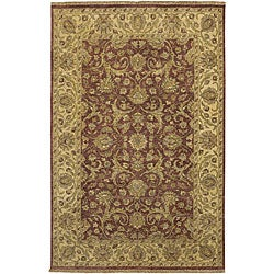 Hand-knotted Legacy New Zealand Hard-twist Wool Rug (5'6 x 8'6)
