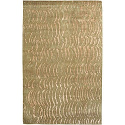 Julie Cohn Hand-knotted Olive Royal Abstract Design Wool Rug (8' x 11')