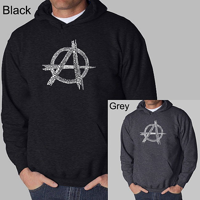 Los Angeles Pop Art Men's Anarchy 'Punk Rock' Hoodie