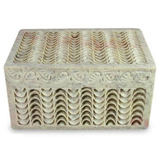 Soapstone 'Nautilus' Jewelry Box (India)