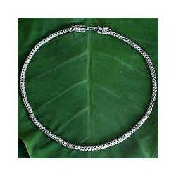 Sterling Silver Chain 'Dragon Protection' Men's Necklace (Thailand)
