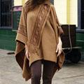 'Heritage' Alpaca Wool Reversible Poncho (Peru)