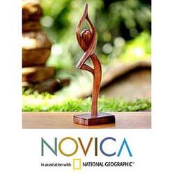 Wood 'Prayer' Statuette (Indonesia)