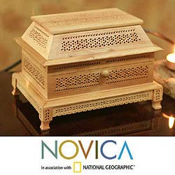 Wood 'Desire' Jewelry Box (India)