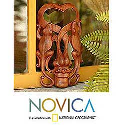 Wood 'Song Of Love' Mask (Indonesia)