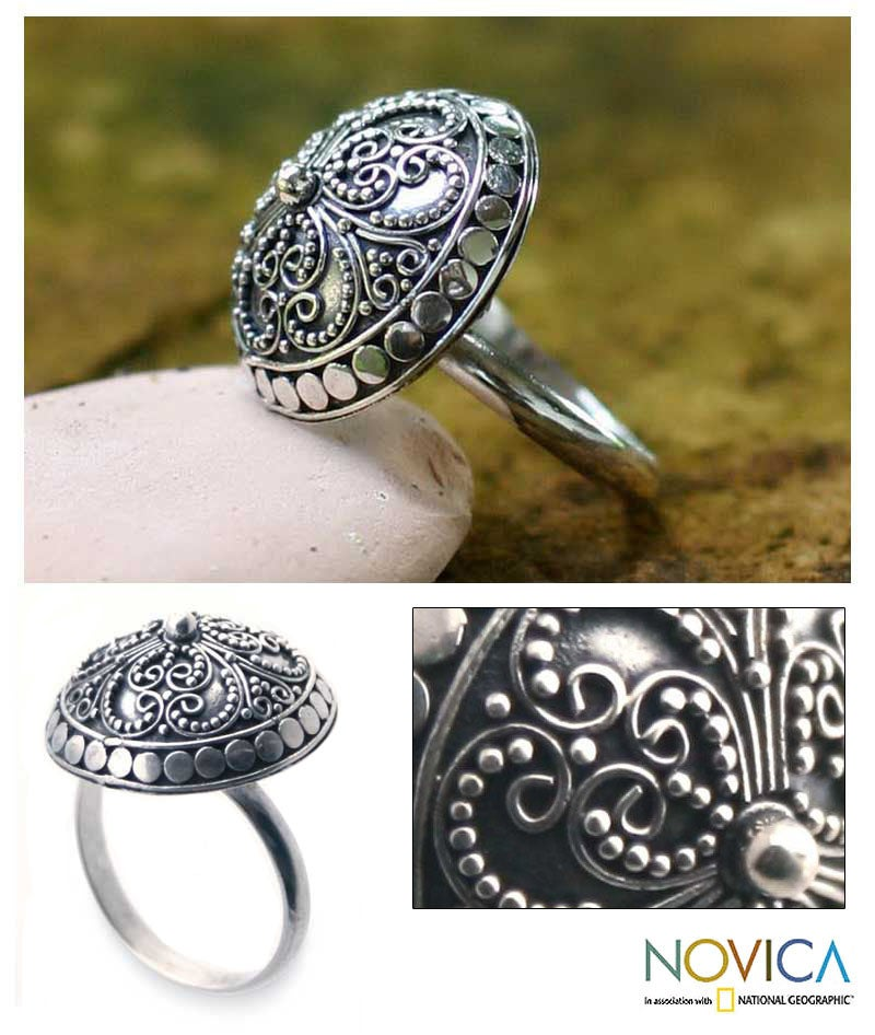 Sterling Silver 'Balinese Princess' Ring (Indonesia)